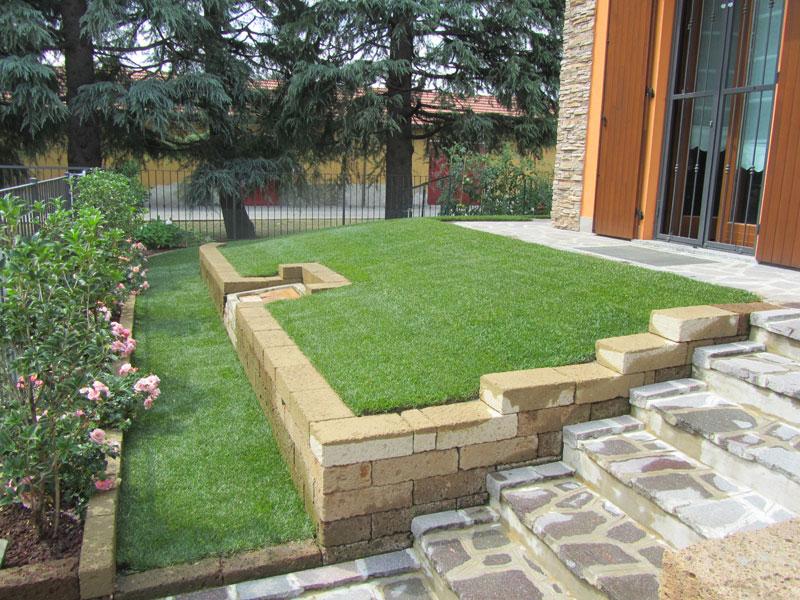 Progettazione giardini monza e brianza realizzazione - Muretti in pietra giardino ...